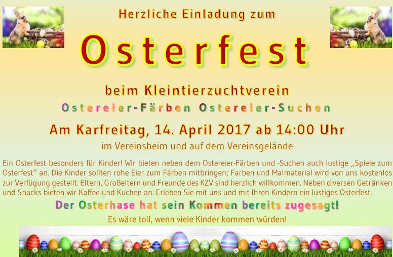 Osterfest – Ostereierfärben beim Kleintierzuchtverein